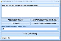 AVI and SWF To Animated GIF Converter Software