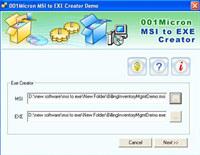 MSI to EXE Setup Creator