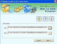 MSI Setup To EXE Converter