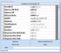 Font Manager Software
