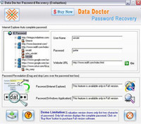 Internet Explorer Password Unlock screenshot medium