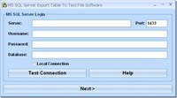 MS SQL Server Export Table To Text File Software screenshot medium
