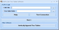 FoxPro Join Two Tables Software