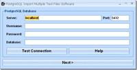 PostgreSQL Import Multiple Text Files Software