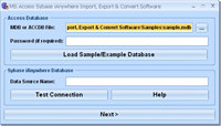MS Access Sybase iAnywhere Import, Export & Convert Software