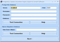 PostgreSQL Sybase iAnywhere Import, Export & Convert Software