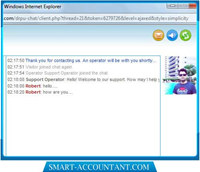 Single Operator Web Chat Support