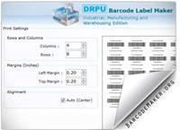 Manufacturing Barcode Generator