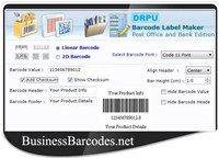 Courier Post Mailer Barcode Maker