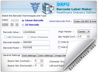 Medical Barcodes Generator