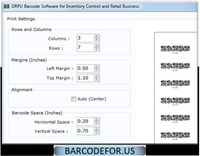 Barcode Generator for Inventory Control