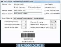 Postal Barcode Maker Software