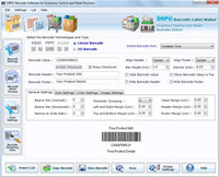 Retail Inventory Barcode Label Maker