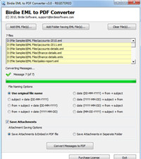 Convert EML Files to PDF