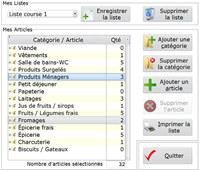 Mes listes de courses screenshot medium