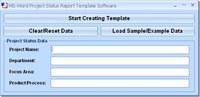 MS Word Project Status Report Template Software screenshot medium