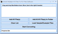 Convert Multiple AVI Files To FLV Files Software