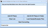 Convert Multiple AVI Files To FLV Files Software