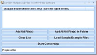 Convert Multiple AVI Files To WMV Files Software