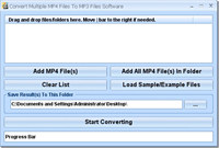 Convert Multiple MP4 Files To MP3 Files Software
