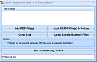 Convert Multiple PDF Files To PS Files Software