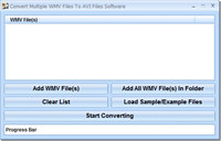 Convert Multiple WMV Files To AVI Files Software