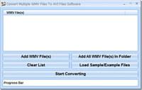 Convert Multiple WMV Files To AVI Files Software
