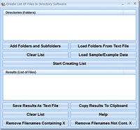 Create List Of Files In Directory Software