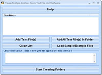 Create Multiple Folders From Text File Software screenshot medium