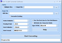 CSV To DBF Converter Software