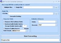 DBF To CSV Converter Software