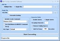 DBF To SQL Converter Software