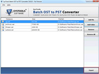Convert Multiple Offline OST Folder to PST