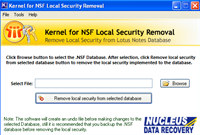Remove Local NSF Security
