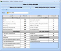 Excel Balance Sheet Template Software