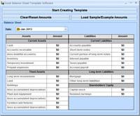 Excel Balance Sheet Template Software screenshot medium
