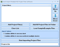 Excel Import Multiple MS Project Files Software