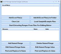 Excel Manage Named Ranges Software