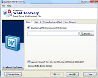 Word File Content Recovery