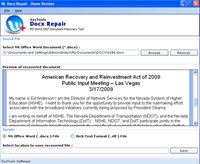 Word 2010 Recovery Software