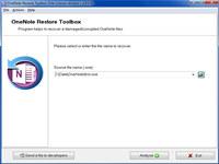OneNote Restore Toolbox