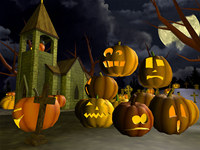 Scary Halloween 3D Screensaver