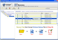 MS Backup File Recovery Tool screenshot medium