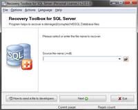 Recovery Toolbox for SQL Server screenshot medium