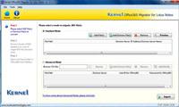 Kernel Office 365 Migrator for Lotus Notes screenshot medium
