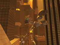 SciFi City 3D Screensaver for Mac OS X