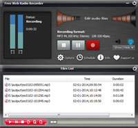 Free Web Radio Recorder screenshot medium