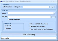Excel XLS and XLSX To DBF Converter Software