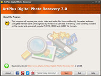 Art Plus Digital Photo Recovery screenshot medium
