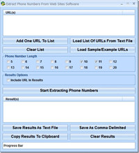 Extract Phone Numbers From Web Sites Software